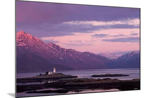 Evening Glow over the Lighthouse on the Isle of Ornsay--Mounted Photographic Print