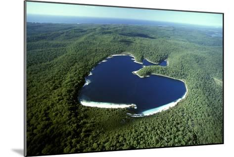 Aerial Lake Mckenzie (Boorangoora) a Perched Lake--Mounted Photographic Print