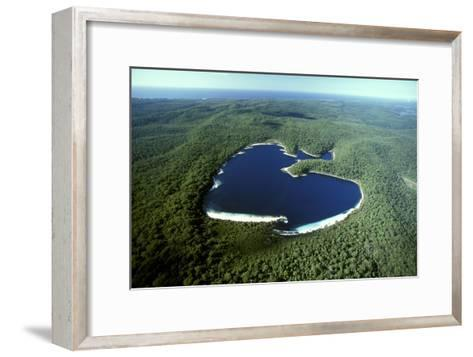 Aerial Lake Mckenzie (Boorangoora) a Perched Lake--Framed Art Print