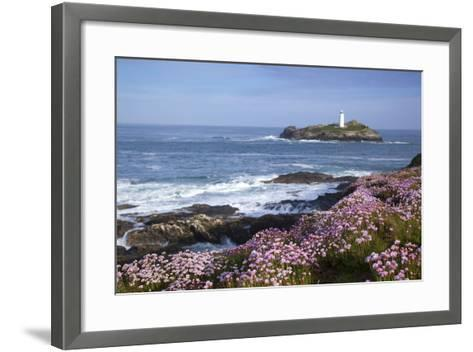 Godrevy Island and Lighthouse from Gwithian Thrift--Framed Art Print