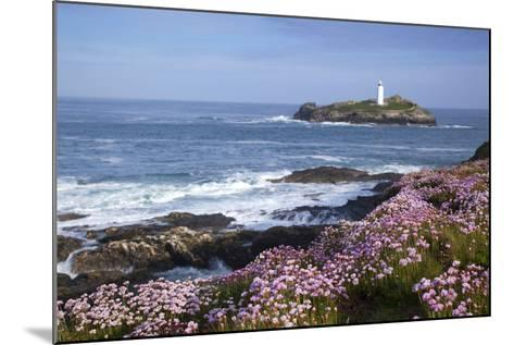 Godrevy Island and Lighthouse from Gwithian Thrift--Mounted Photographic Print