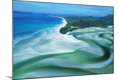 Australia Whitehaven Beach, Whitsunday Island--Mounted Photographic Print