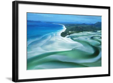 Australia Whitehaven Beach, Whitsunday Island--Framed Art Print