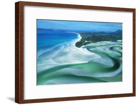 Australia Whitehaven Beach, Whitsunday Island--Framed Art Print