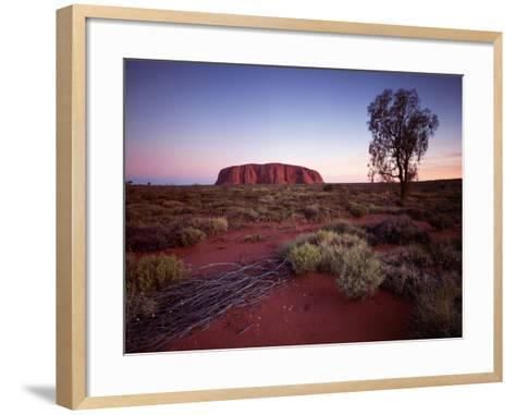 Ayers Rock, Uluru at Sunset--Framed Art Print
