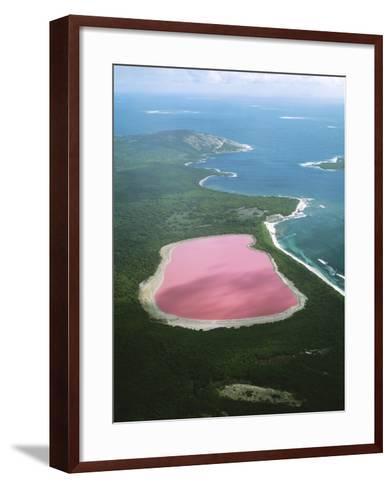 Western Australia Lake Hillier, Middle Island--Framed Art Print