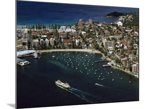 Manly and Manly Cove with Ferry Approaching Terminal--Mounted Photographic Print