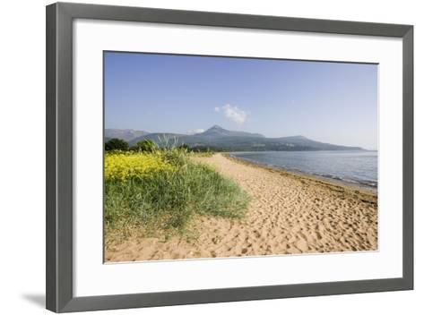 Northern Highlands on Arran Viewed from Beach--Framed Art Print