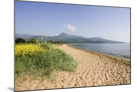 Northern Highlands on Arran Viewed from Beach--Mounted Photographic Print