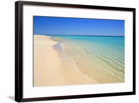 Dream Beach White Sandy Beach, Clear Turquoise--Framed Art Print
