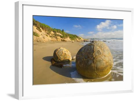 Moeraki Boulders Massive Spherical Rocks Which--Framed Art Print