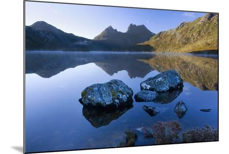 Mountain Scenery Dove Lake in Front of Massive--Mounted Photographic Print
