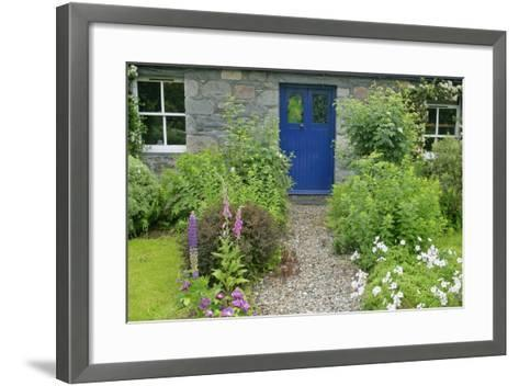 Cottage Garden in Spring with Path Leading to Front Door--Framed Art Print