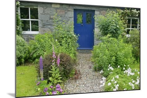 Cottage Garden in Spring with Path Leading to Front Door--Mounted Photographic Print