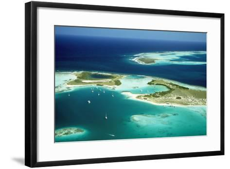 Venezuela Los Roques, Aerial View of Islands and Lagoons--Framed Art Print
