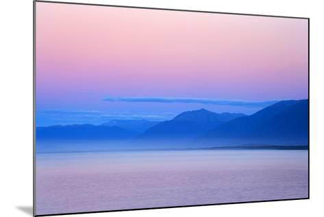 Twilight Ocean and Mountains around Jackson Bay--Mounted Photographic Print