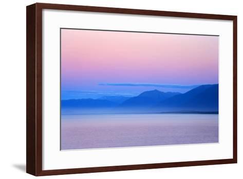 Twilight Ocean and Mountains around Jackson Bay--Framed Art Print