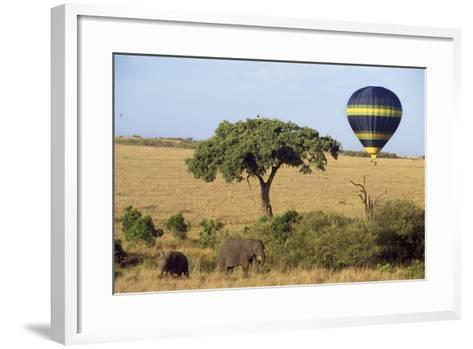 Safari, Hot-Air Balloon--Framed Art Print