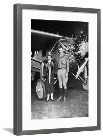 Lindbergh, Louis and Mum--Framed Art Print