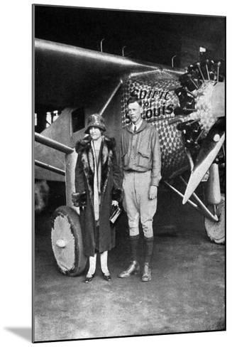 Lindbergh, Louis and Mum--Mounted Photographic Print