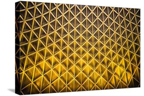 Yellow Diamonds-Adrian Campfield-Stretched Canvas Print