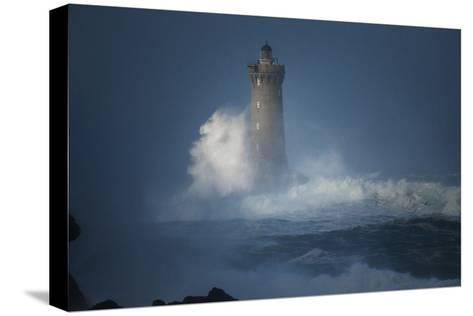 Bretagne, Overcome by Waves-Philippe Manguin-Stretched Canvas Print
