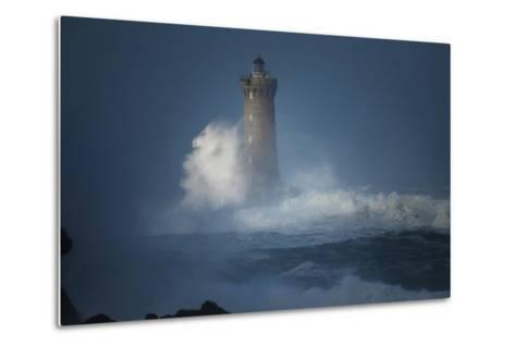 Bretagne, Overcome by Waves-Philippe Manguin-Metal Print