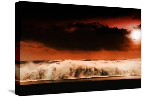Digital Discord in Red.Jpg-Philippe Sainte-Laudy-Stretched Canvas Print
