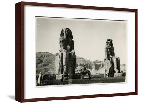 Colossi of Memnon, Thebes, Egypt--Framed Art Print