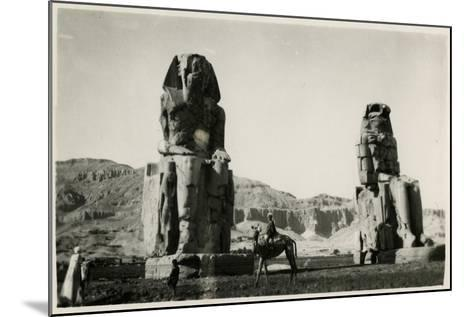 Colossi of Memnon, Thebes, Egypt--Mounted Photographic Print