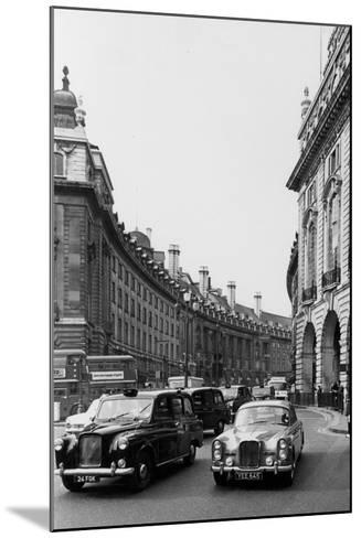 Regent Street Traffic--Mounted Photographic Print