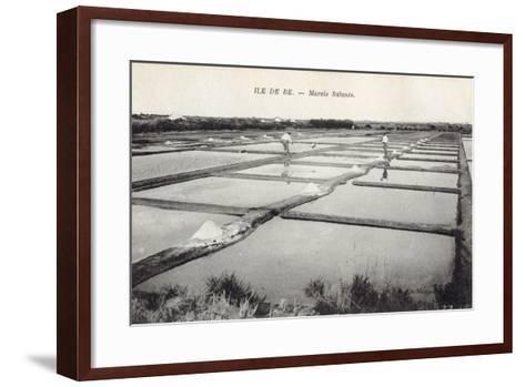Salt on Ile de Re--Framed Art Print