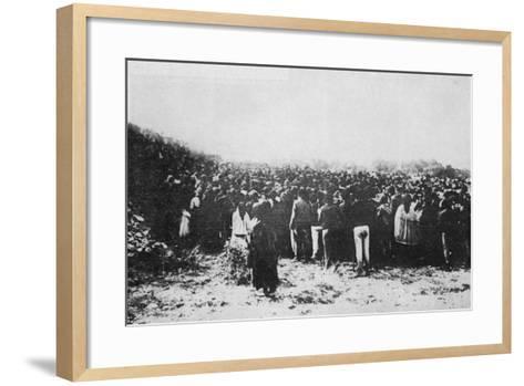 Fatima Crowd--Framed Art Print