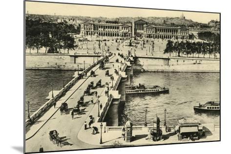 Paris Place Concorde--Mounted Photographic Print