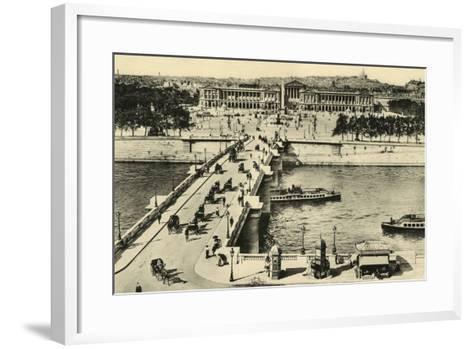 Paris Place Concorde--Framed Art Print