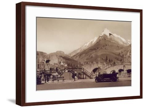 Rollercoaster, Yarmouth--Framed Art Print