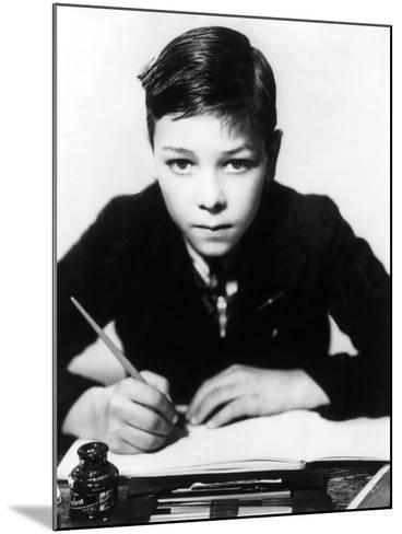 Boy Writing--Mounted Photographic Print