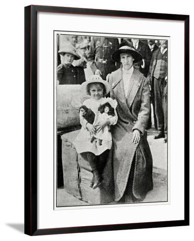 Little Girl Rescued from the 'Lusitania' 1915--Framed Art Print