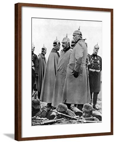 General Moltke and Kaiser Wilhelm II--Framed Art Print