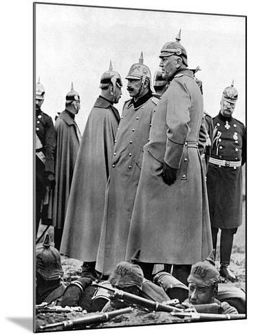 General Moltke and Kaiser Wilhelm II--Mounted Photographic Print