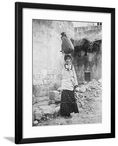 Water Carrier, Palestine--Framed Art Print