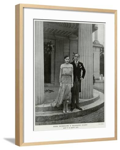 Edda Mussolini, Daughter--Framed Art Print