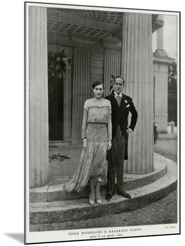 Edda Mussolini, Daughter--Mounted Photographic Print