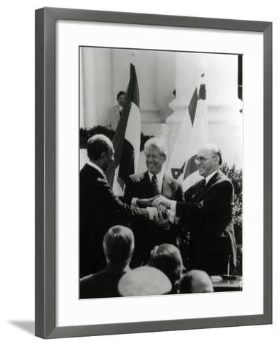 Jimmy Carter, Sadat, Begin--Framed Art Print