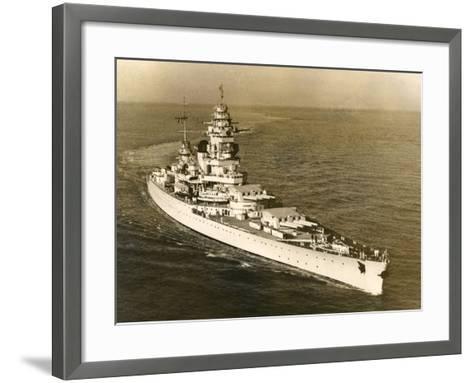 Warship 'Dunkerque'--Framed Art Print