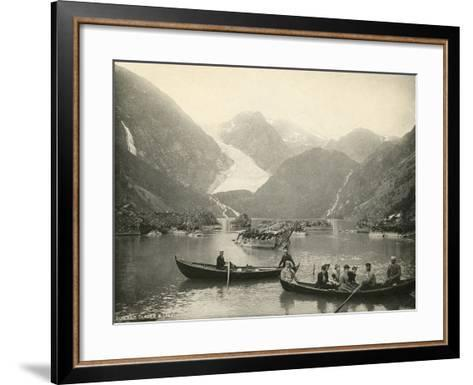 Glacier, Norway--Framed Art Print