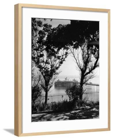 Llandudno Pier--Framed Art Print