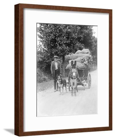 Dog and Donkey Team--Framed Art Print