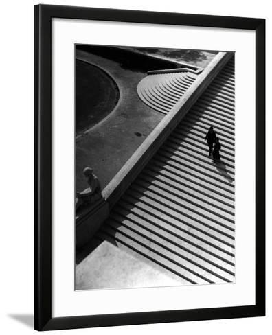 Steps of the Trocadero--Framed Art Print