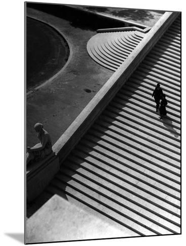 Steps of the Trocadero--Mounted Photographic Print